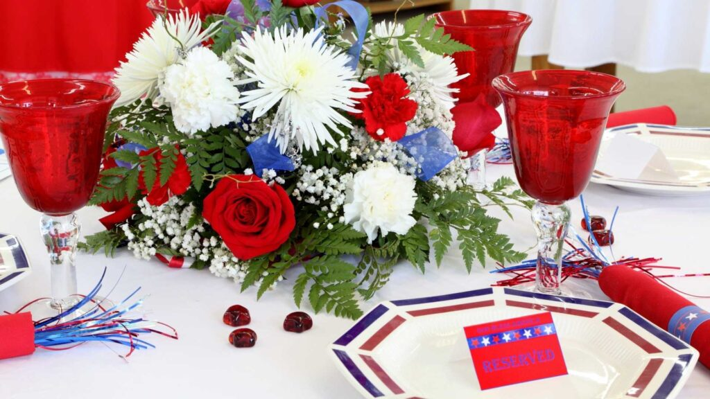 Independence day flower centerpiece